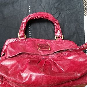 Marc by marc jacobs cow leather red large satchel